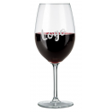 Glass goblet red wine